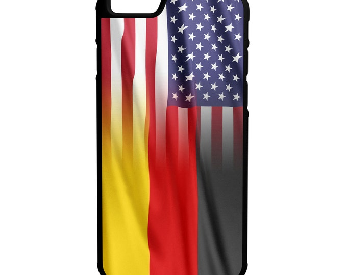 German American Flag iPhone Galaxy Note LG HTC Hybrid Rubber Protective Case