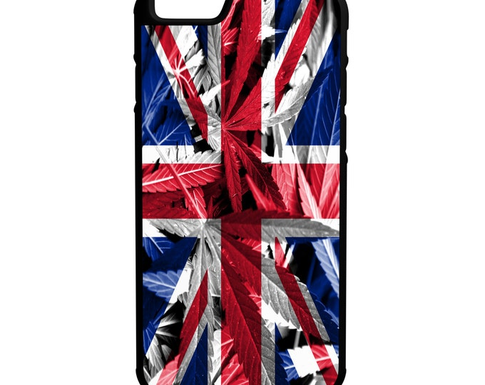 United Kingdom Weed Flag iPhone Galaxy Note LG HTC Hybrid Rubber Protective Case