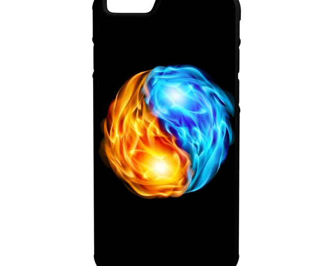 Yin Yang Fire Side iPhone Galaxy Note LG HTC Hybrid Rubber Protective Case