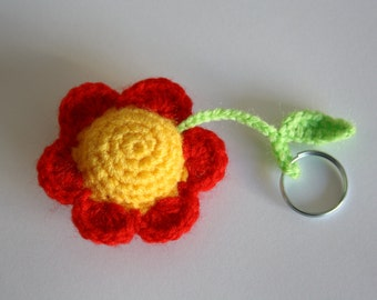 Crochet Flower Keyring