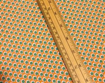 Orange Daisy Printed Needlecord / Baby Cord