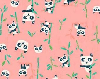 SALE Flo's Friends - Pandas Pink - Makower UK - Andover (TP-1627-1)