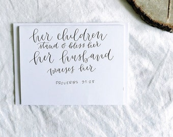 Proverbs 31:28 Mother's Day Greeting Card