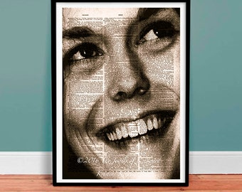 Karen Carpenter Dictionary Page Art - Gift under 20 - 1970s Collectible - Music Art - Media Room - Music Poster - Wall Hanging - Collectable