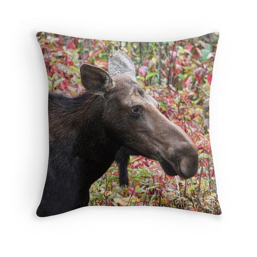Decorative Moose Pillows : Moose Pillow Woodland Decor Moose Decor Woodland Animals
