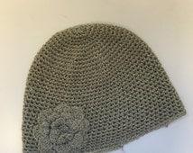 Vintage 1920s Crochet Flapper Gatsby Skull Cap Hat