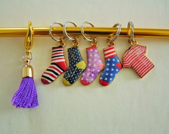 Snag-free Stitch Marker Set Socks and Sweater Tassel