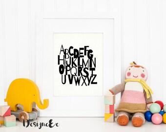 Quote Print - Alphabet