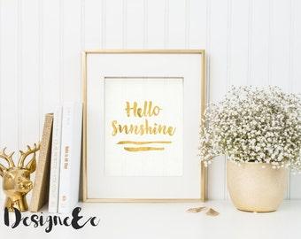 Foil Print - Hello Sunshine