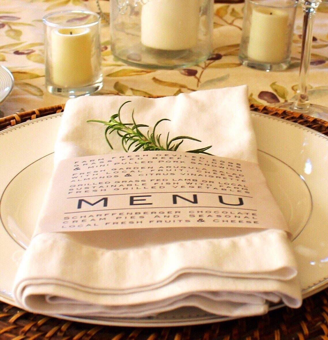 printable napkin ring menu weddings thanksgiving dinner. Black Bedroom Furniture Sets. Home Design Ideas