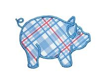 Farm Pig Applique Machine Embroidery Digital Design Barnyard Animal