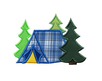 Tent Woods Applique Machine Embroidery Digital Design Camping Camper Summer Outdoors Cabin