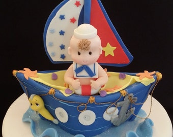 Nautical Cake Topper, Nautical First Birthday, Nautical Baby Shower,  Nautical, Nautical Favor