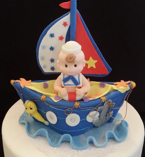 Nautical Cake Topper Nautical First Birthday Nautical Baby