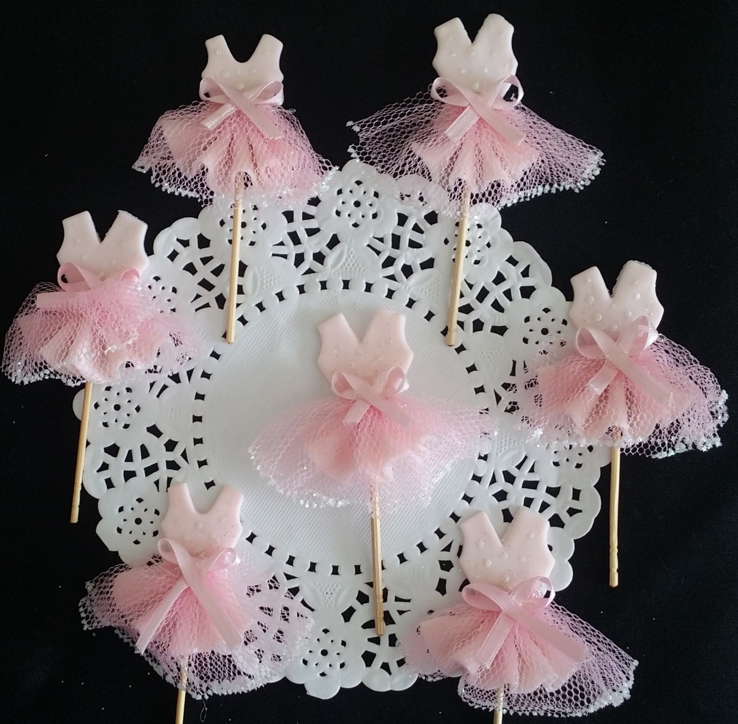 Tutus Cake Toppers Baby Shower Favor Baby Shower Tutus Baby