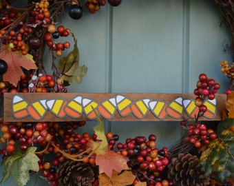 Vintage wood single line halloween design