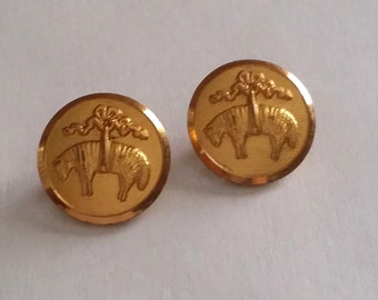Cute Vintage WATERBURY Gold Tone Blazer Jacket Clothing College Buttons Set of 2