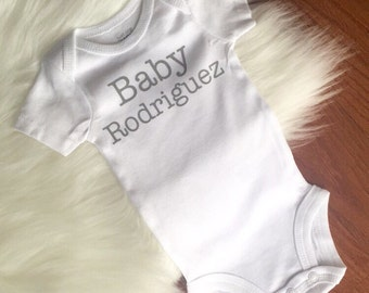Body Suit for Baby's - Last Name Baby Body Suit - Baby Gift