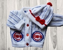 Cubs Knitted  Baby Sweater
