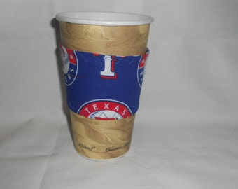 Texas Rangers Coffee Cup Cozy