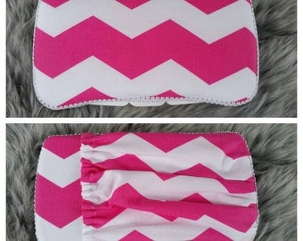 Chevron Travel Baby Wipe Case - Pink Wipe Case - Wipes Case with Pocket - Pink Chevron Travel Wipe Case - Wipes Case w/Pocket -Diaper Clutch