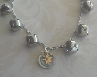 Moon and stars jingle anklet