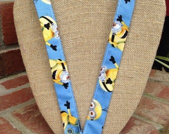 Sale 50% OFF! Minions Lanyard Blue