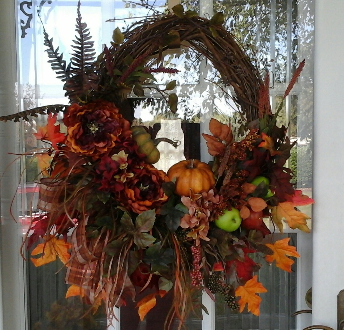 Fall Wreath Sale Hydrangea Wreath Thanksgiving Wreath