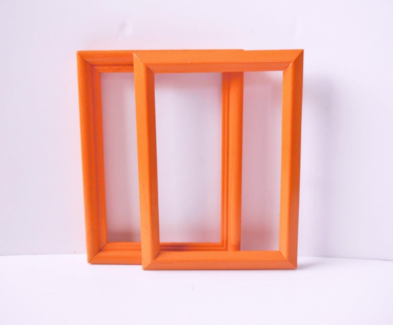 the skinny orange picture frames 5 x 7 frames by thecharmingfarm. Black Bedroom Furniture Sets. Home Design Ideas