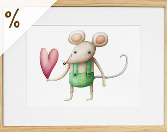 Mouse - Framed print (XS) - Sale!