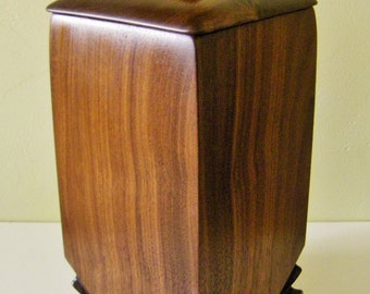 Wood Urn, Cremation Urn, Walnut Keepsake, Funeral Urn, One Of A Kind, Cremation Ashes