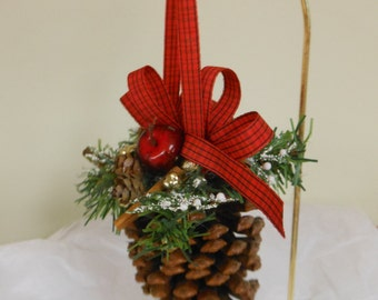 Pinecone Ornament Pine cone Ornament Christmas Ornament Handmade Ornament Country Christmas Ornament Pinecone decorations