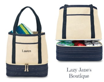 Personalized Cotton Insulated Tote and Cooler