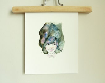 "FINE ART Print | Limited Edition | Gemini Girl | 8"" x 10"" 