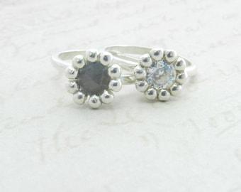 Daisy Diamond Engagement Ring  -- Deposit listing -- CJ401