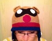 Bucky Bear Inspired Crochet Hat