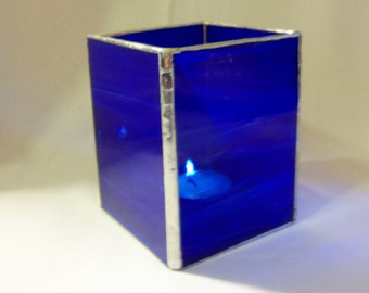 Candle Holder-Pencil Holder- Vase- Cobalt Blue- AirForce Blue-Fathers Day Gift