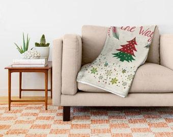 Throw blanket, Christmas Blanket, Christmas Throw Blanket, hippie blankets, Home decor