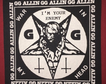 GG Allin Cloth Punk Patch