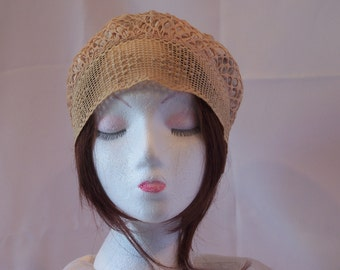 Vintage 1920's Art Deco Handmade Cloche Hat/Sunday Church Hat