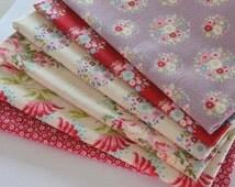 Tilda Fabric Collection Mini Size Bundle - 6 pieces of 16cm x 25cm
