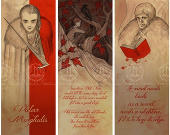 Game of Thrones bookmarks - SET of 3