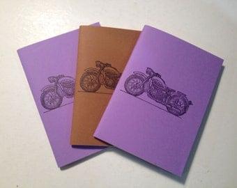 Handmade Letterpress Motorcycle Notebooks - Too Cool!