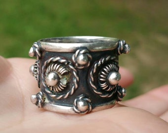 Wide band Sterling DPD Mexico ring