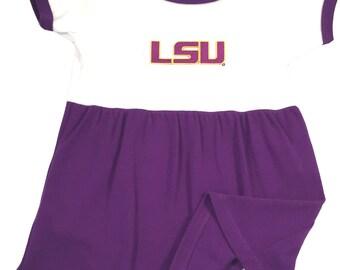 LSU Tigers Baby Bodysuit Dress