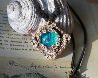 The Sapphire Octopus - steampunk, larp, fantasy creature necklace, role play, totem animal