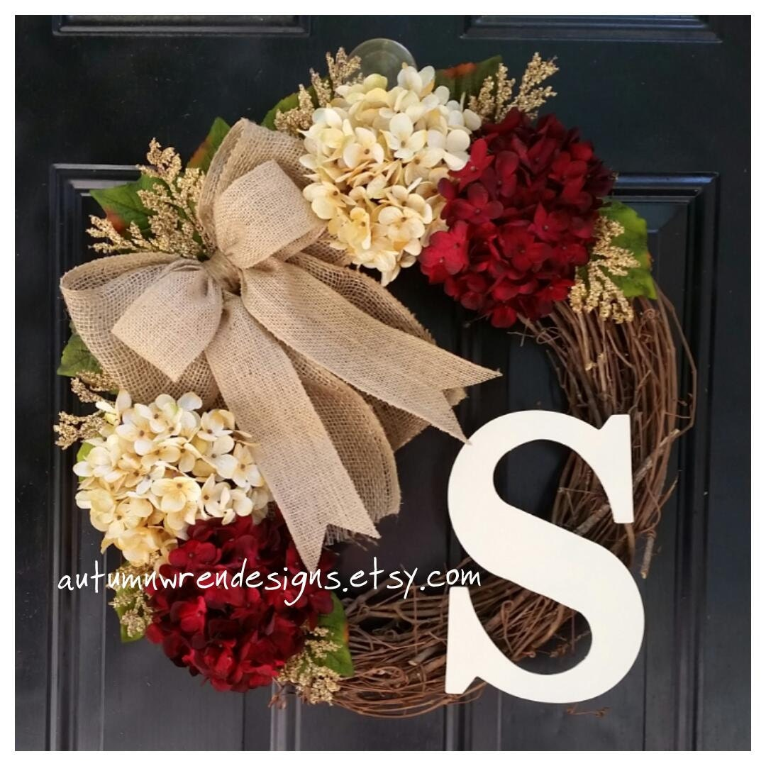 Front door christmas wreaths - Fall Door Decor Everyday Wreaths Wreath For Front Door Wreath Hydrangea Wreath