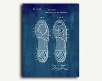 Patent Print - Baseball Cleat Patent Wall Art Poster