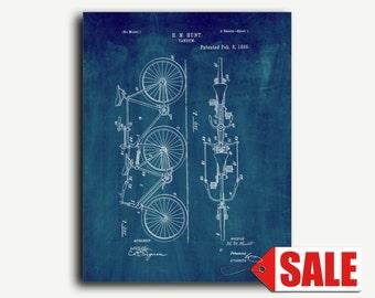 Patent Art - Bicycle Tandem Patent Wall Art Print