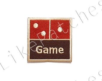Domino Game New Sew / Iron On Patch Embroidered Applique Patches Size 5.6x5.6cm.